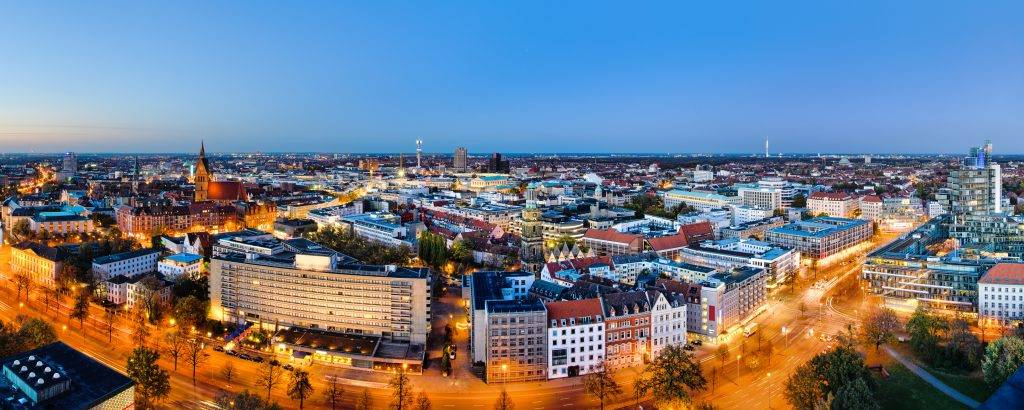 Abendliches Hannover Panorama